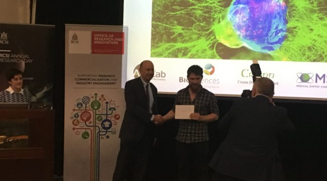 PhD candidate James Morgan wins best poster prize